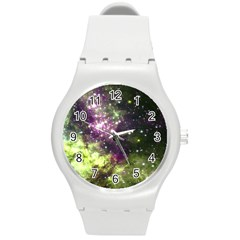 Space Colors Round Plastic Sport Watch (m) by ValentinaDesign