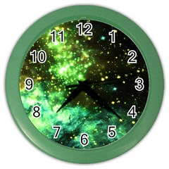 Space Colors Color Wall Clocks by ValentinaDesign