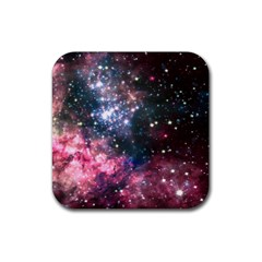 Space Colors Rubber Square Coaster (4 Pack)  by ValentinaDesign