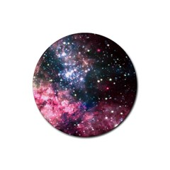 Space Colors Rubber Round Coaster (4 Pack)  by ValentinaDesign