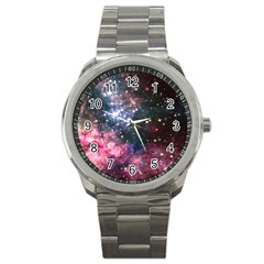 Space Colors Sport Metal Watch by ValentinaDesign