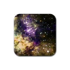 Space Colors Rubber Coaster (square)  by ValentinaDesign