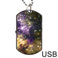 Space Colors Dog Tag Usb Flash (two Sides) by ValentinaDesign