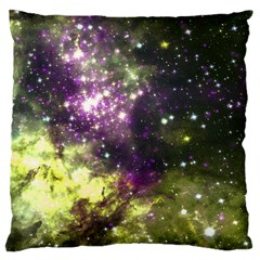 Space Colors Large Cushion Case (one Side) by ValentinaDesign