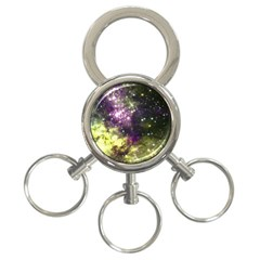 Space Colors 3 Ring Key Chains by ValentinaDesign