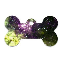 Space Colors Dog Tag Bone (two Sides) by ValentinaDesign