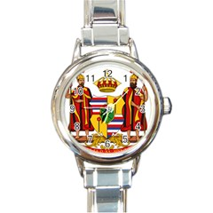 Kingdom Of Hawaii Coat Of Arms, 1795 1850 Round Italian Charm Watch by abbeyz71