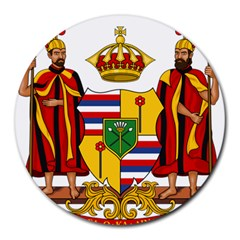 Kingdom Of Hawaii Coat Of Arms, 1795 1850 Round Mousepads by abbeyz71