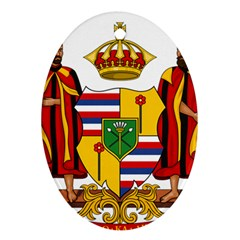 Kingdom Of Hawaii Coat Of Arms, 1795 1850 Ornament (oval) by abbeyz71