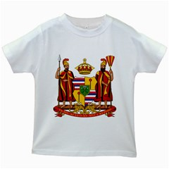 Kingdom Of Hawaii Coat Of Arms, 1795 1850 Kids White T Shirts by abbeyz71