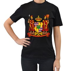 Kingdom Of Hawaii Coat Of Arms, 1795 1850 Women s T Shirt (black) (two Sided) by abbeyz71