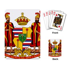 Kingdom Of Hawaii Coat Of Arms, 1795 1850 Playing Card by abbeyz71