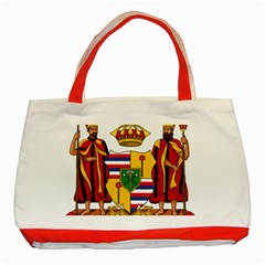Kingdom Of Hawaii Coat Of Arms, 1795 1850 Classic Tote Bag (red) by abbeyz71