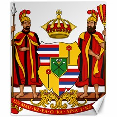 Kingdom Of Hawaii Coat Of Arms, 1795 1850 Canvas 8  X 10  by abbeyz71