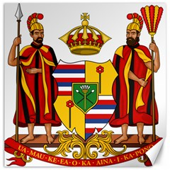 Kingdom Of Hawaii Coat Of Arms, 1795 1850 Canvas 12  X 12   by abbeyz71