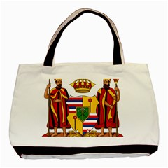 Kingdom Of Hawaii Coat Of Arms, 1795 1850 Basic Tote Bag (two Sides) by abbeyz71