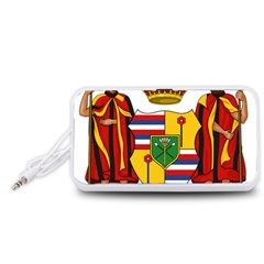Kingdom Of Hawaii Coat Of Arms, 1795 1850 Portable Speaker (white) by abbeyz71