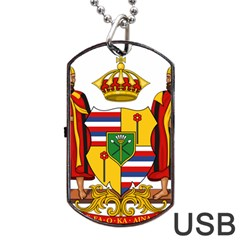 Kingdom Of Hawaii Coat Of Arms, 1795 1850 Dog Tag Usb Flash (one Side) by abbeyz71