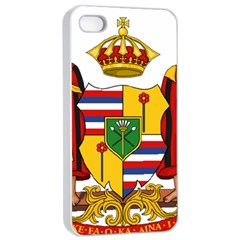 Kingdom Of Hawaii Coat Of Arms, 1795 1850 Apple Iphone 4/4s Seamless Case (white) by abbeyz71