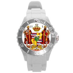 Kingdom Of Hawaii Coat Of Arms, 1795 1850 Round Plastic Sport Watch (l) by abbeyz71