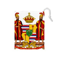 Kingdom Of Hawaii Coat Of Arms, 1795 1850 Drawstring Pouches (medium)  by abbeyz71