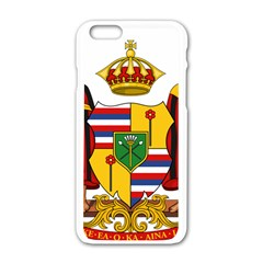 Kingdom Of Hawaii Coat Of Arms, 1795 1850 Apple Iphone 6/6s White Enamel Case by abbeyz71
