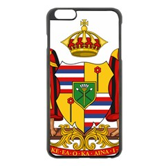 Kingdom Of Hawaii Coat Of Arms, 1795 1850 Apple Iphone 6 Plus/6s Plus Black Enamel Case by abbeyz71