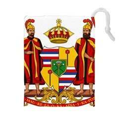 Kingdom Of Hawaii Coat Of Arms, 1795 1850 Drawstring Pouches (extra Large) by abbeyz71