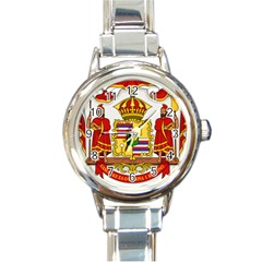 Kingdom Of Hawaii Coat Of Arms, 1850 1893 Round Italian Charm Watch by abbeyz71