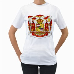 Kingdom Of Hawaii Coat Of Arms, 1850 1893 Women s T Shirt (white) (two Sided) by abbeyz71