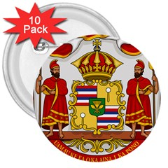 Kingdom Of Hawaii Coat Of Arms, 1850 1893 3  Buttons (10 Pack)  by abbeyz71