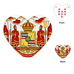 Kingdom Of Hawaii Coat Of Arms, 1850 1893 Playing Cards (heart)  by abbeyz71