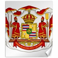 Kingdom Of Hawaii Coat Of Arms, 1850 1893 Canvas 8  X 10  by abbeyz71