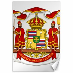 Kingdom Of Hawaii Coat Of Arms, 1850 1893 Canvas 24  X 36  by abbeyz71