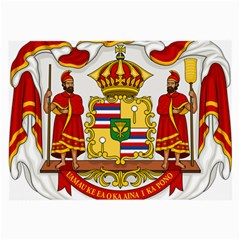 Kingdom Of Hawaii Coat Of Arms, 1850 1893 Large Glasses Cloth by abbeyz71