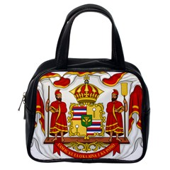 Kingdom Of Hawaii Coat Of Arms, 1850 1893 Classic Handbags (one Side) by abbeyz71