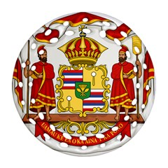 Kingdom Of Hawaii Coat Of Arms, 1850 1893 Ornament (round Filigree) by abbeyz71