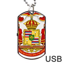 Kingdom Of Hawaii Coat Of Arms, 1850 1893 Dog Tag Usb Flash (one Side) by abbeyz71