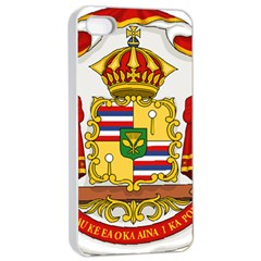 Kingdom Of Hawaii Coat Of Arms, 1850 1893 Apple Iphone 4/4s Seamless Case (white) by abbeyz71