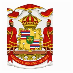 Kingdom Of Hawaii Coat Of Arms, 1850 1893 Small Garden Flag (two Sides) by abbeyz71
