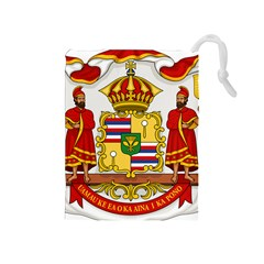 Kingdom Of Hawaii Coat Of Arms, 1850 1893 Drawstring Pouches (medium)  by abbeyz71