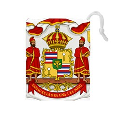 Kingdom Of Hawaii Coat Of Arms, 1850 1893 Drawstring Pouches (large)  by abbeyz71