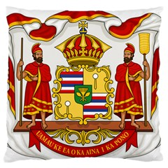 Kingdom Of Hawaii Coat Of Arms, 1850 1893 Large Flano Cushion Case (one Side) by abbeyz71