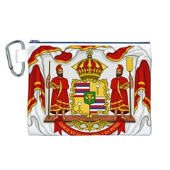 Kingdom Of Hawaii Coat Of Arms, 1850 1893 Canvas Cosmetic Bag (l) by abbeyz71