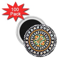 High Contrast Mandala 1 75  Magnets (100 Pack)  by linceazul