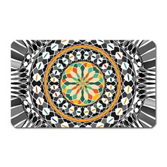 High Contrast Mandala Magnet (rectangular) by linceazul