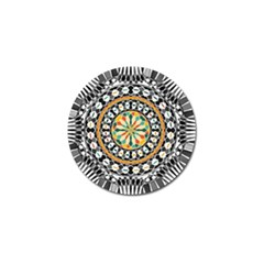 High Contrast Mandala Golf Ball Marker (4 Pack) by linceazul