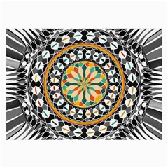High Contrast Mandala Large Glasses Cloth (2 Side) by linceazul