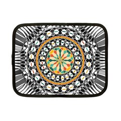 High Contrast Mandala Netbook Case (small)  by linceazul