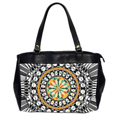 High Contrast Mandala Office Handbags (2 Sides)  by linceazul